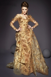MNM Couture Long-Sleeve Gold Gown - Product Mini Image