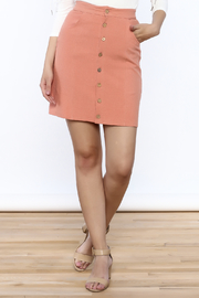 mo:vint Linen Skirt - Front cropped