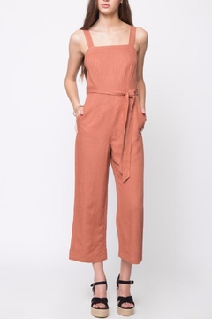 Shoptiques Product: Linen Sleeveless Jumpsuit