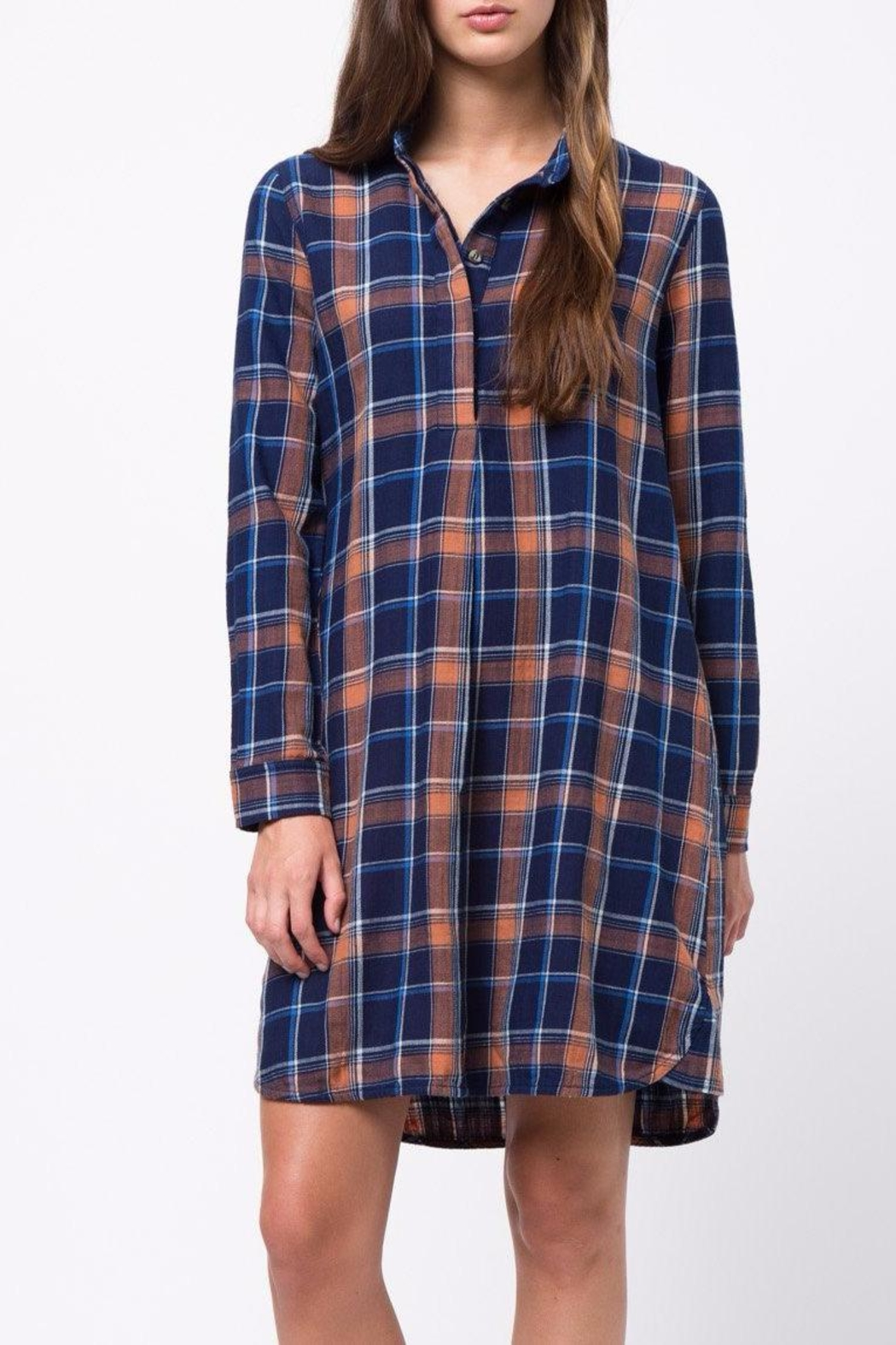 mo:vint Plaid Dress - Back Cropped Image