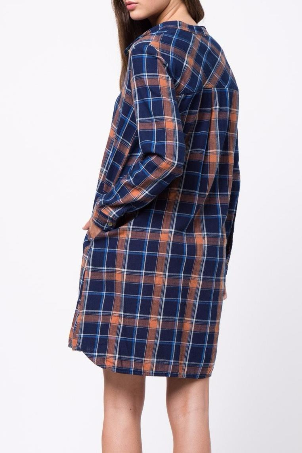 mo:vint Plaid Dress - Side Cropped Image