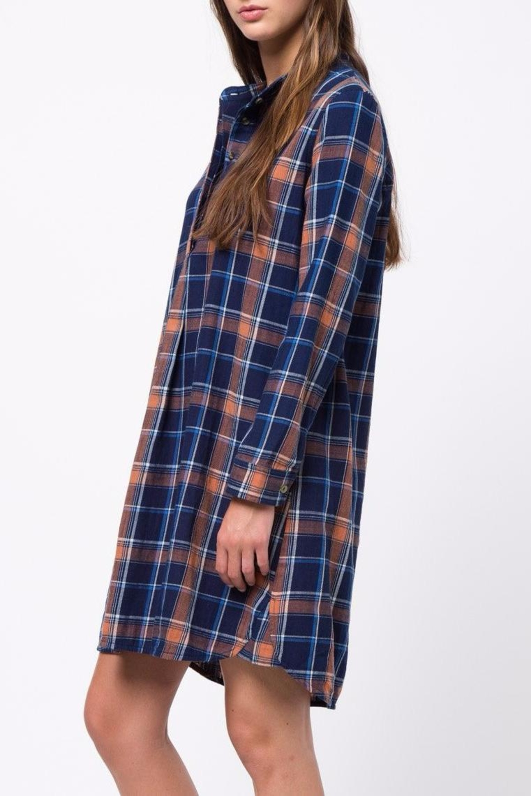 mo:vint Plaid Dress - Front Full Image