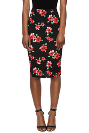 Moa Floral Printed Pencil Skirt - Side cropped