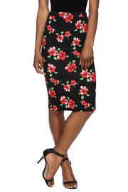 Moa Floral Printed Pencil Skirt - Front cropped