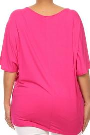 Moa Floral Embossed Top - Front full body