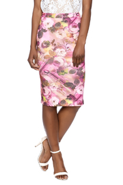 Moa Floral Pencil Skirt - Front cropped