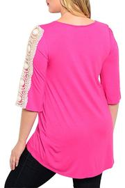 Moa Fuchsia Crochet Top - Front full body