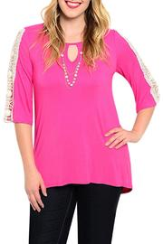 Moa Fuchsia Crochet Top - Front cropped