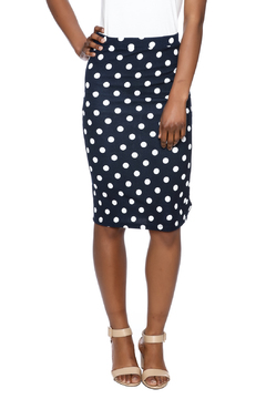 Shoptiques Product: Navy Polka Dot Skirt