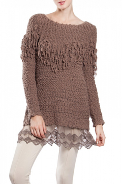 Shoptiques Product: Mocha Brown Lace