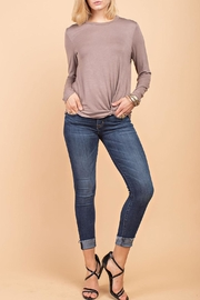 12pm by Mon Ami Mocha Knot Top - Front cropped