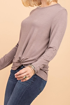 12pm by Mon Ami Mocha Knot Top - Alternate List Image