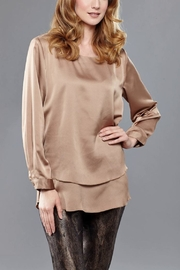Insight Mocha Satin Blouse - Product Mini Image