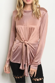 annabelle Mocha Satin Top - Product Mini Image