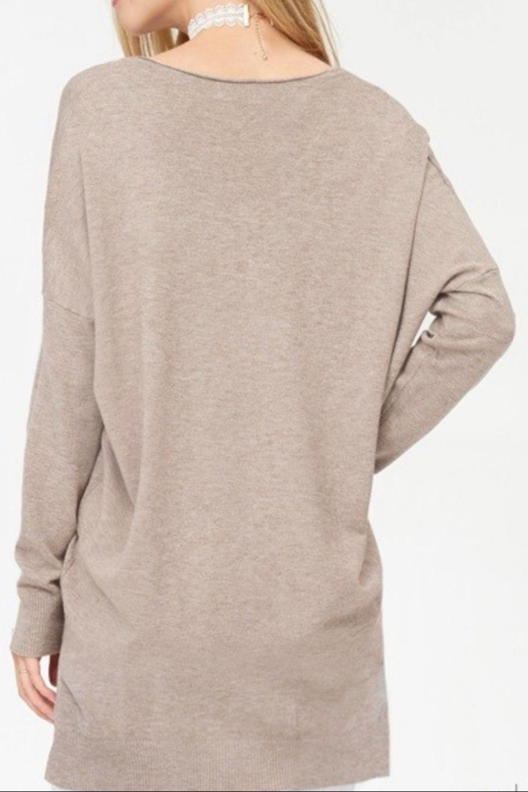 Dreamers Mocha Soft Sweater - Front Full Image