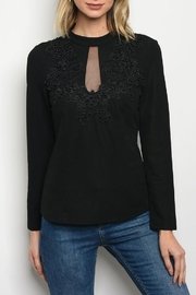 Mochel Black Embellished Blouse - Product Mini Image