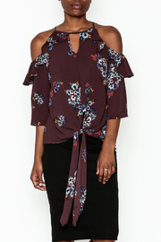 Mochel Floral Ruffle Blouse - Product Mini Image