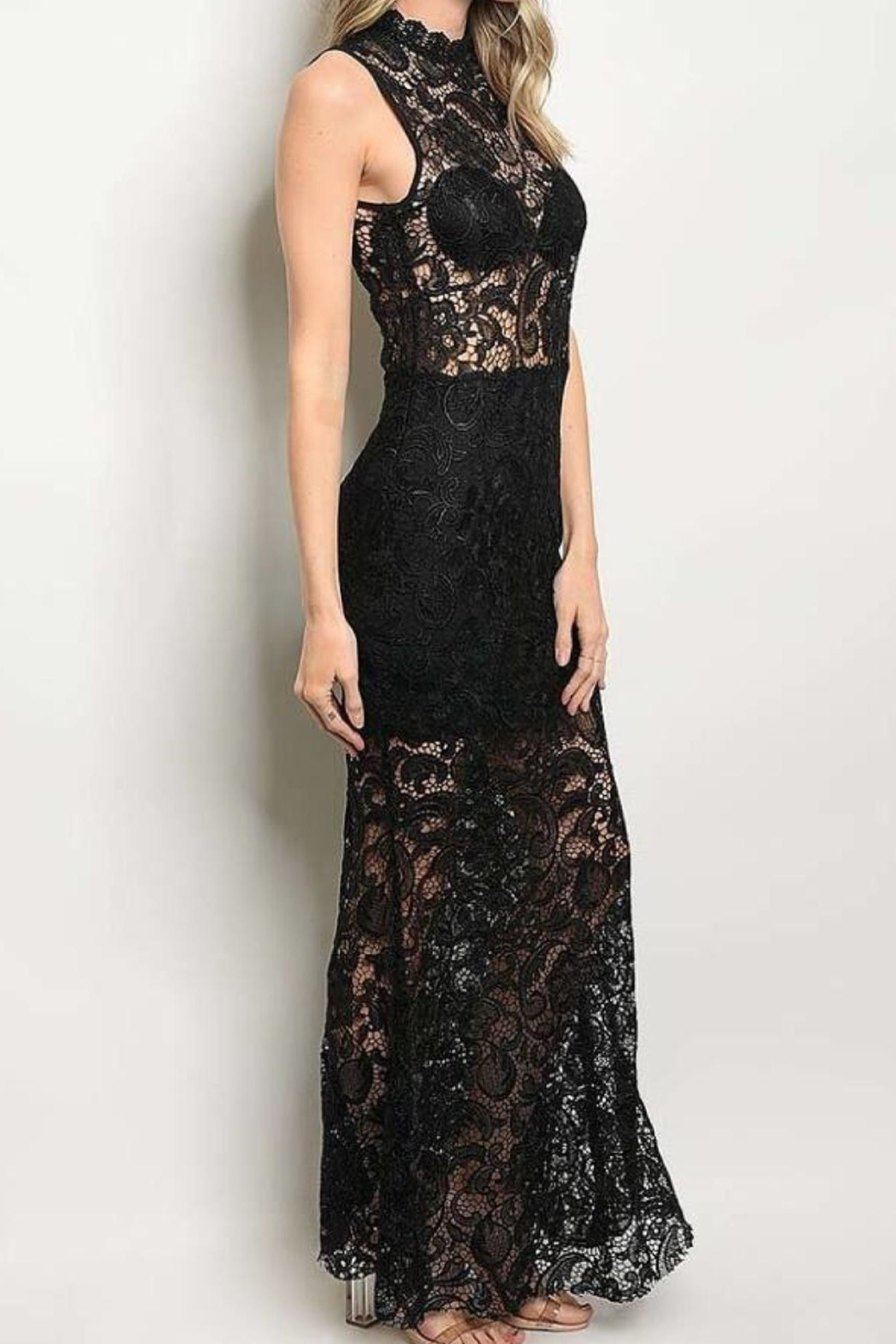 Not Labeled  Mock Lace Maxi - Front Full Image