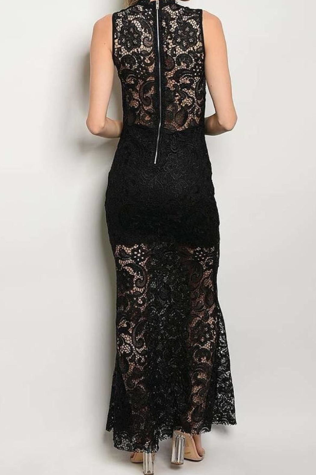 Not Labeled  Mock Lace Maxi - Side Cropped Image