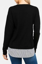 Love Tree Mock Layered Sweater - Back cropped