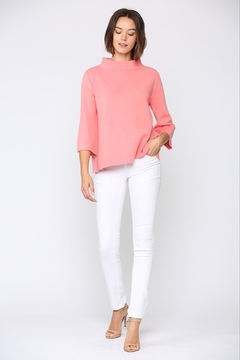 Shoptiques Product: Mock Neck Bell Sleeve Sweater