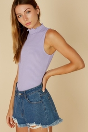 blue blush Mock Neck Bodysuit - Product Mini Image