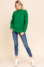 Gilli  Mock Neck Cable Knit Sweater - Other