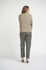Dex Mock Neck Cable Knit Sweater - Side cropped