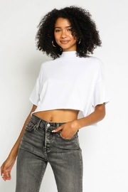 Olivaceous  Mock Neck Cropped Tee - Product Mini Image