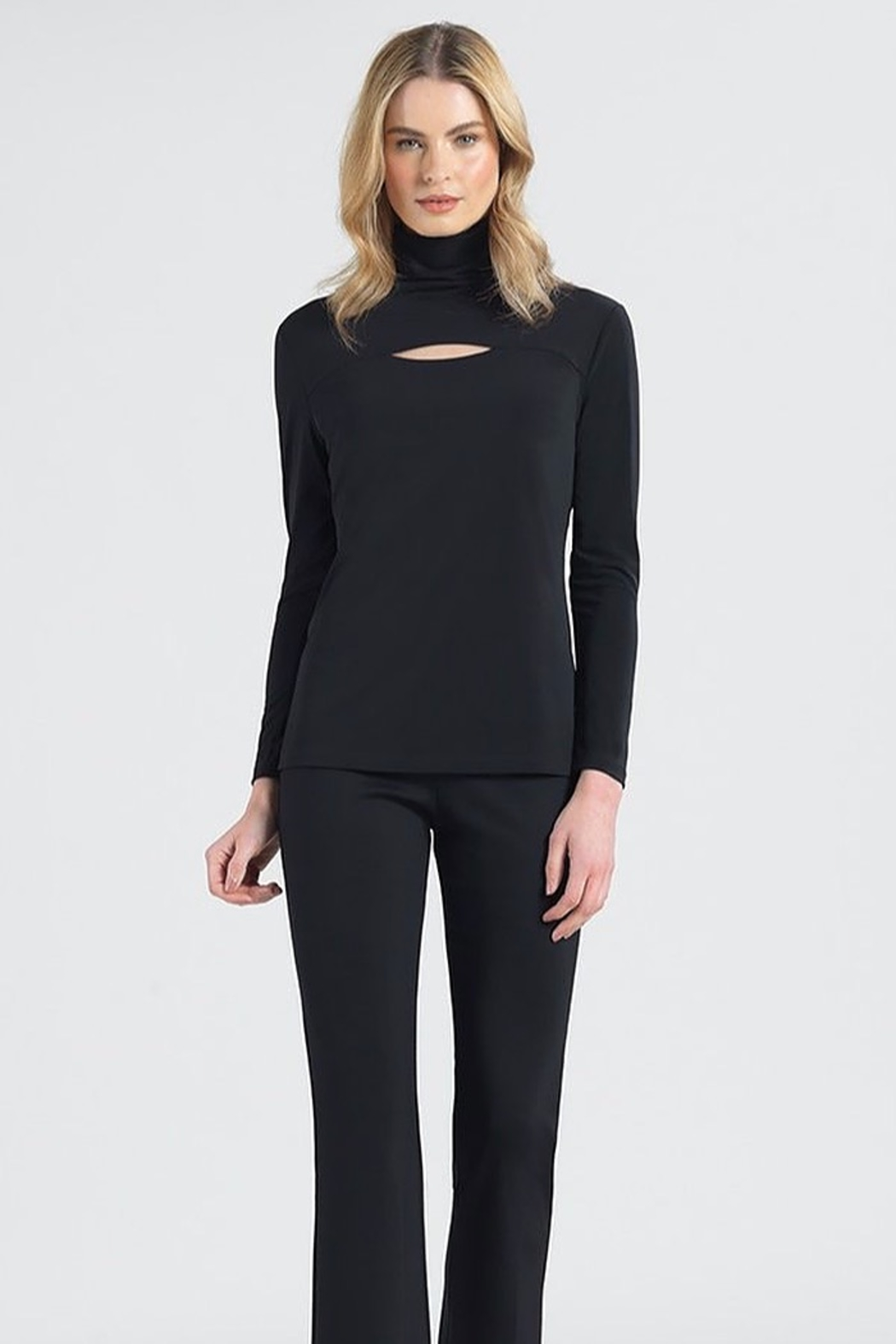 Clara Sunwoo Mock Neck Cut Out Top - Main Image