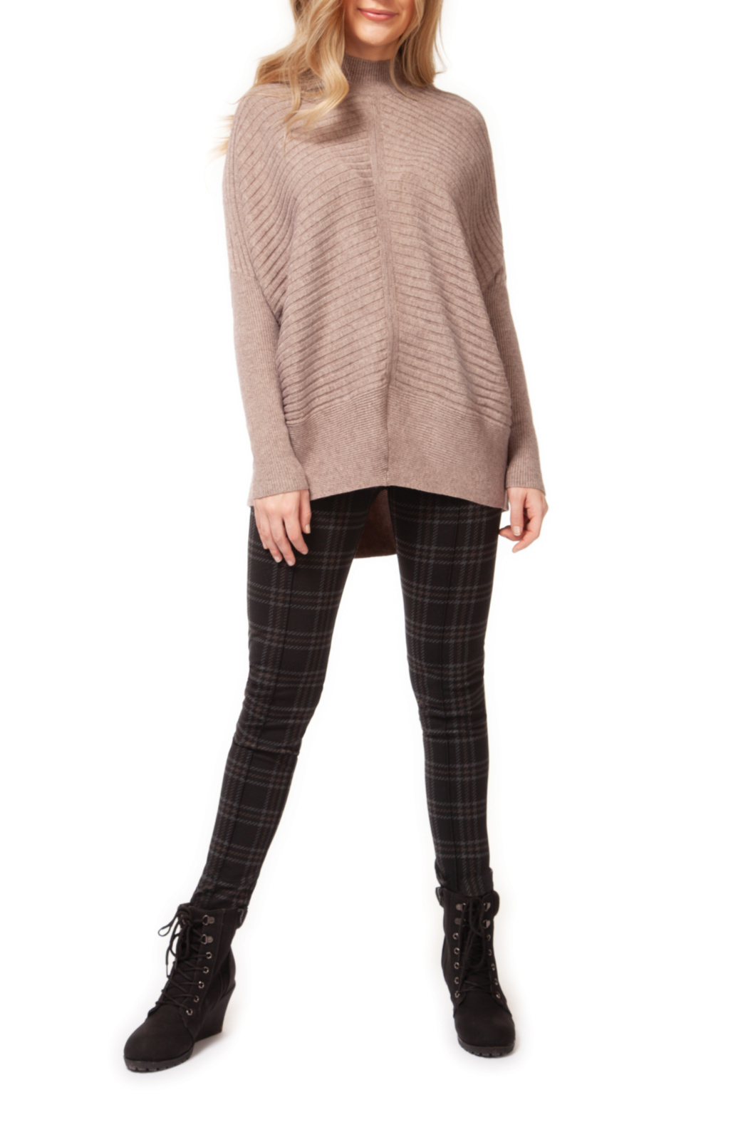 Dex Mock Neck Dolman Sleeve Sweater - Main Image