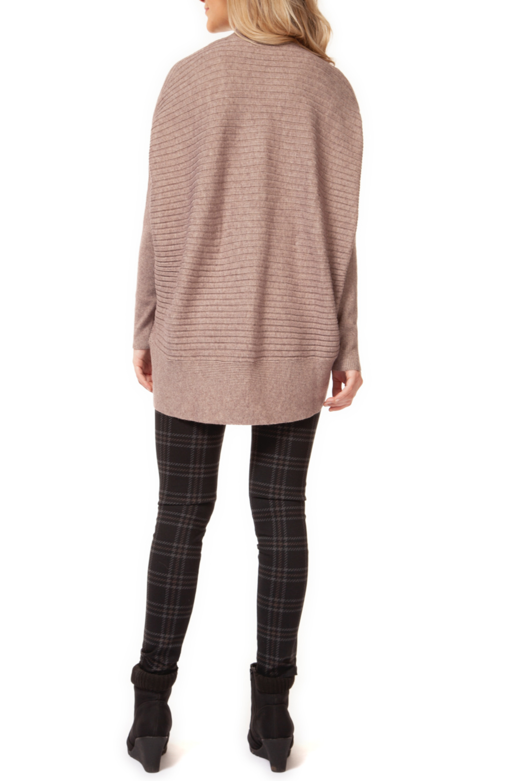 Dex Mock Neck Dolman Sleeve Sweater - Front Full Image