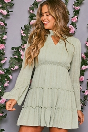 Peach Love California Mock Neck Dress - Front cropped