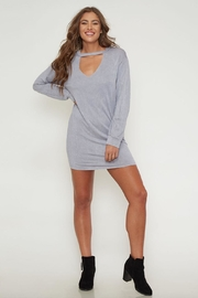 Peach Love California Mock-Neck Knit Dress - Product Mini Image