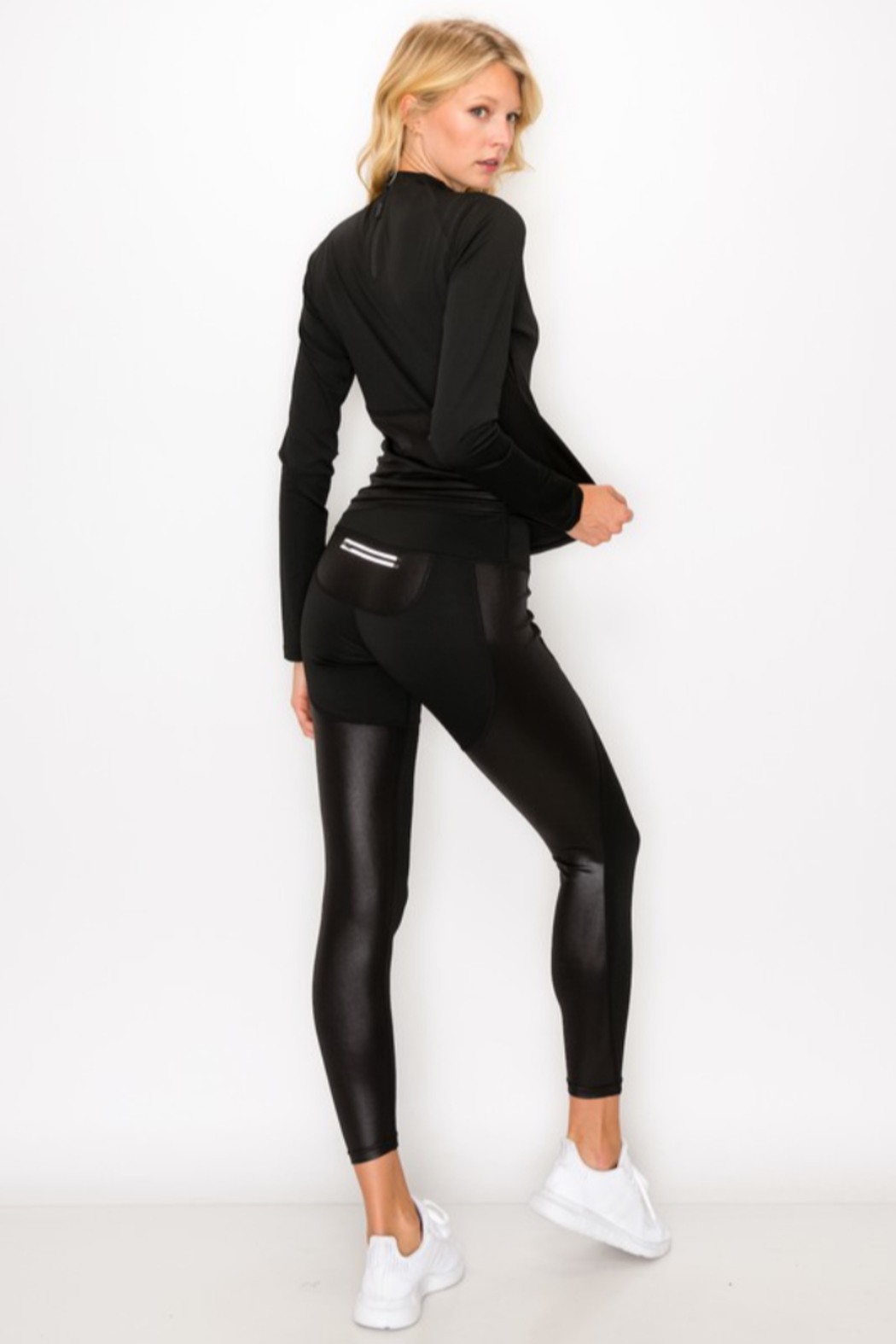 NELEMENT Mock Neck Pullover and Legging Set - Front Full Image