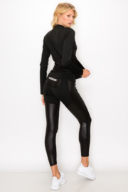 NELEMENT Mock Neck Pullover and Legging Set - Front full body