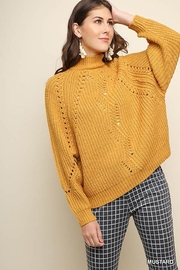 Umgee USA Mock-Neck Pullover Sweater - Product Mini Image