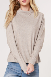 Bobi Los Angeles Mock Neck Raglan Top - Product Mini Image