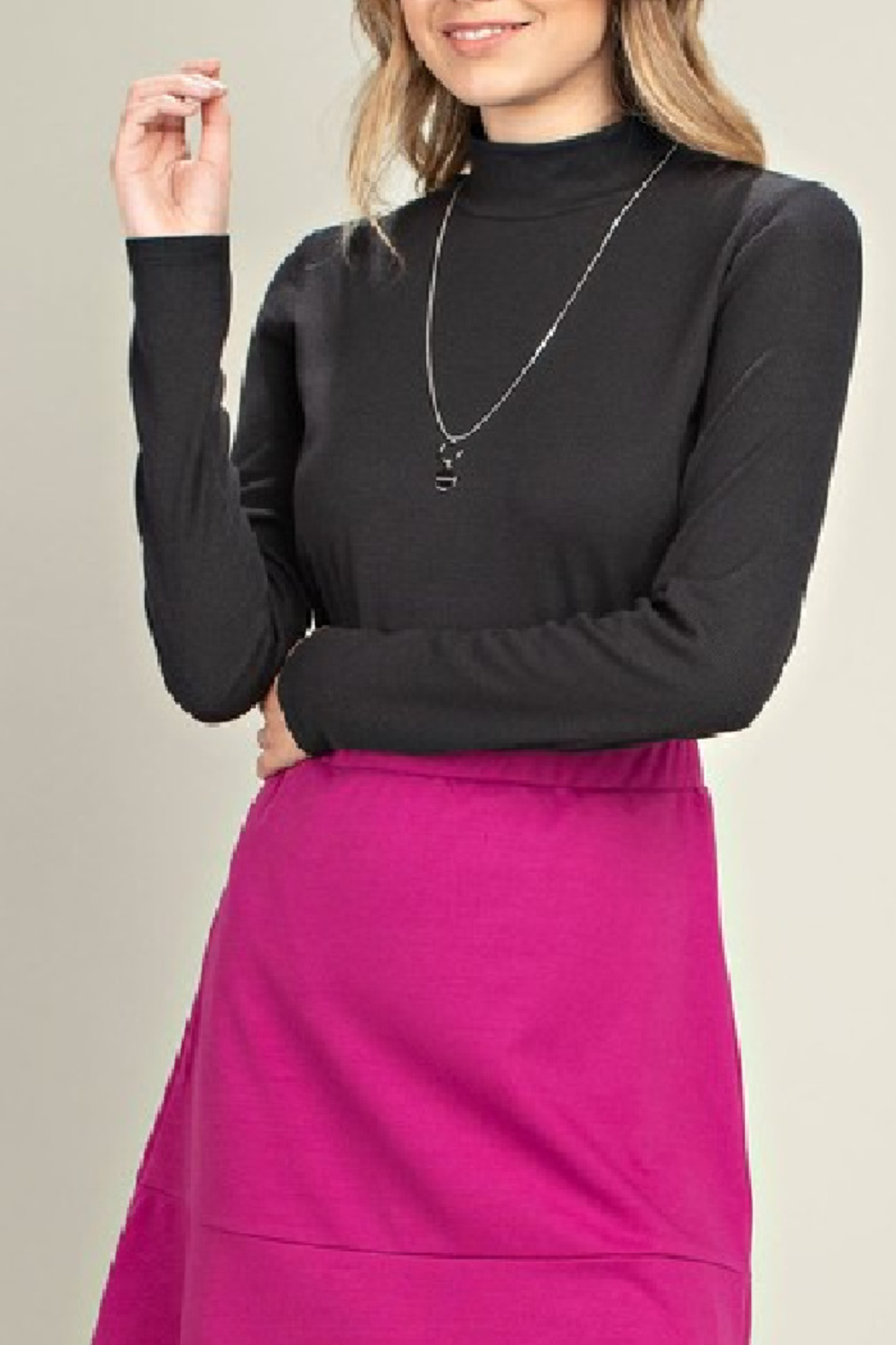 Mittoshop Mock Neck Ribbed Top - Main Image