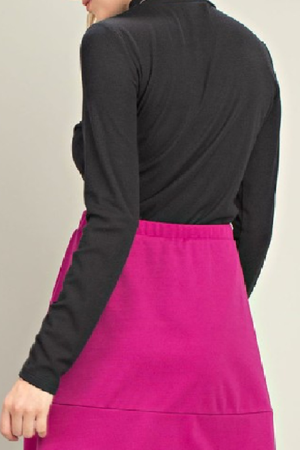 Mittoshop Mock Neck Ribbed Top - Front Full Image