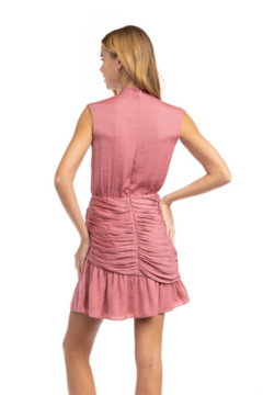 Naked Zebra Mock Neck Ruched Skirt Dress - Alternate List Image