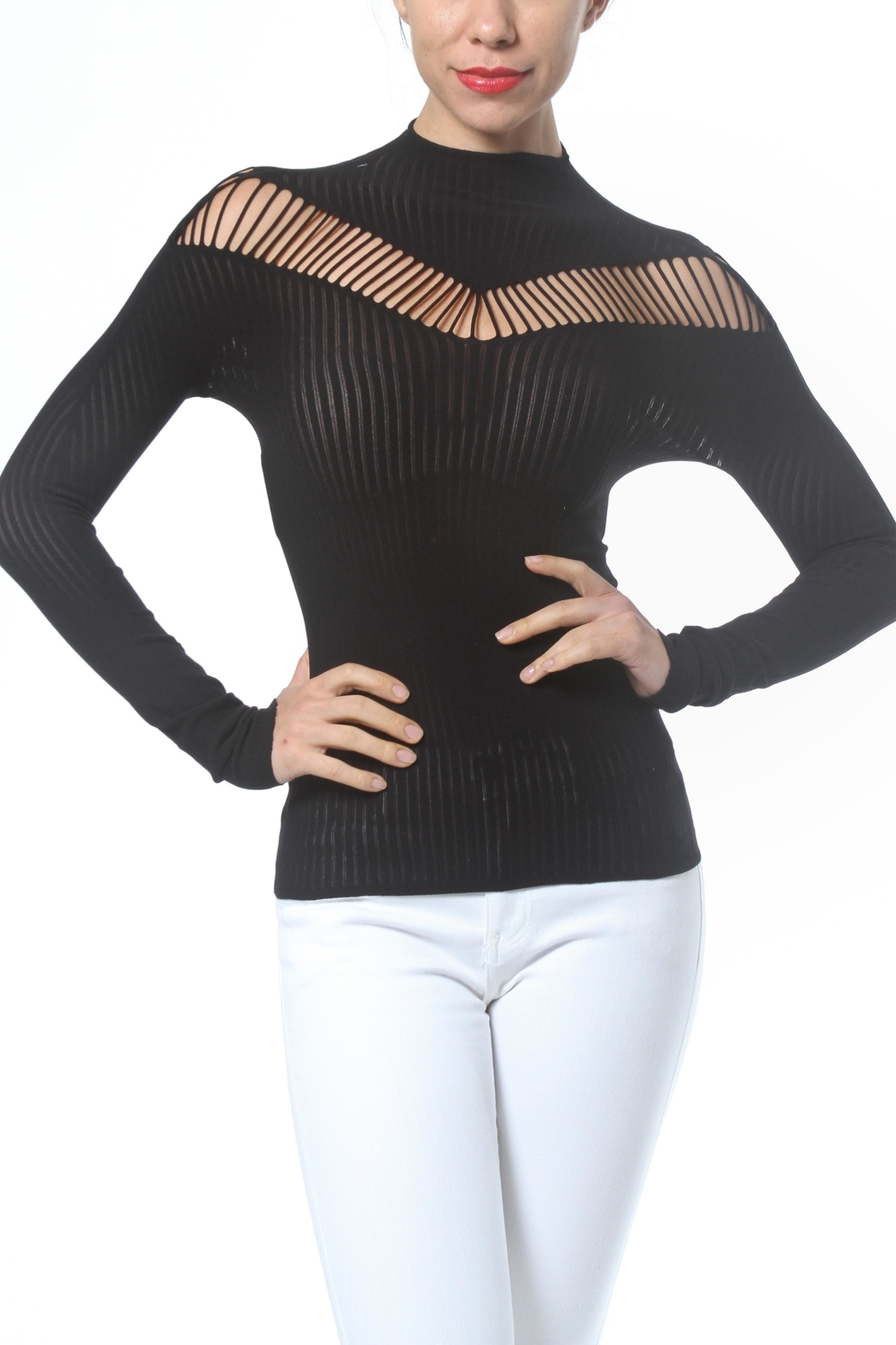 Madonna & Co Mock Neck Seamless - Front Cropped Image
