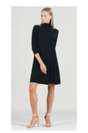 Clara Sunwoo Mock Neck Soft Knit Tunic w/ Small Collar Cutout - Product Mini Image