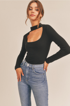 Lush  Mock Neck Square Front Top - Product List Image