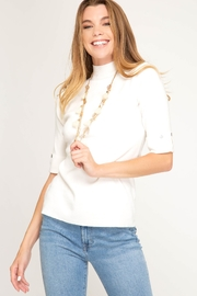 She + Sky Mock Neck Sweater - Product Mini Image