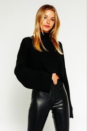 Olivaceous  Mock Neck Sweater - Front cropped