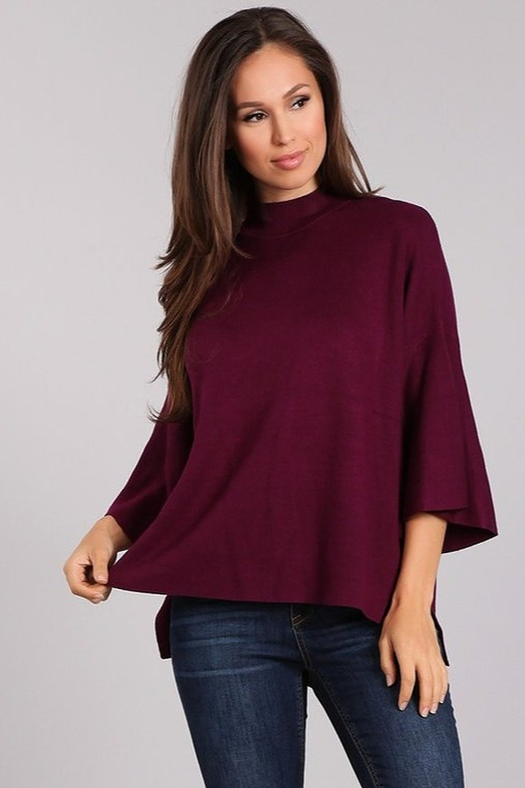 Blvd Mock Neck Sweater - Front Cropped Image