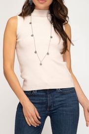 She + Sky Mock Neck Sweater Tank - Front cropped