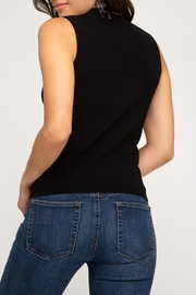 She + Sky Mock Neck Sweater Tank - Front full body