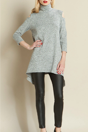Clara Sunwoo Mock Open Shldr Tunic Sweater - Product Mini Image